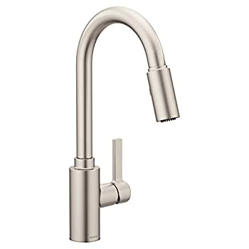 Moen 7882SRS Genta LX Single-Handle Pull-Down Sprayer Modern Kitchen Faucet with Reflex and Power Boost Spot Resist Stainless
