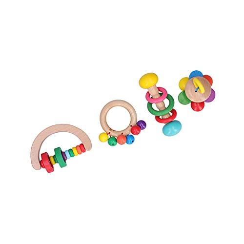 Juguete Sonajero, Sonajero De Madera Juguete Suave Tintineo Para Juguete De Madera Para Bebé