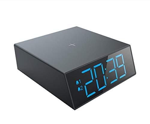 RENQIAN elektronische wekker draadloze oplader voor S10/S10E nachtsluimerwekker schijnende digitale klok modern decor led-horloge 10W