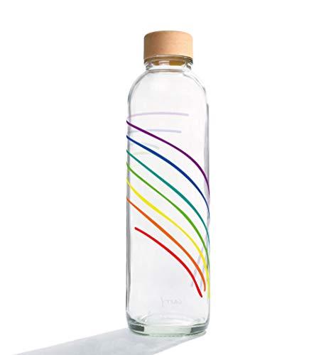 Carrybottles Trinkflasche Glas 0,7l | Sportflasche, Wasserflasche | BPA-frei, auslaufsicher & kohlensäuregeeignet | Plastikfrei & nachhaltig produziert | Made in Germany