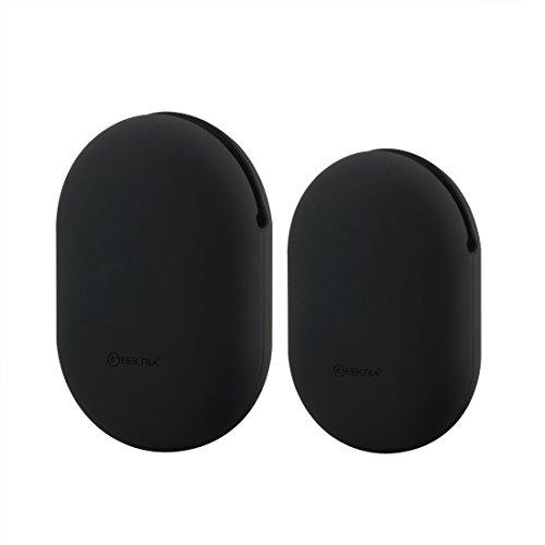 Geekria 2 Stück Silikon-Schutzhülle für Ohrhörer, für PowerBeats, Jabra Sport Pace, Jaybird X3, X2, BlueBuds X, Freedom, Ohrhörer-Schutz, Quetschtasche/weiche Aufbewahrungstasche ( M + S, )