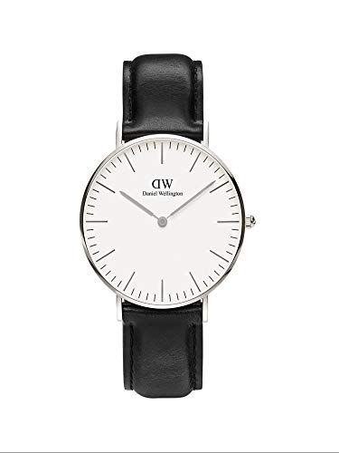 Daniel Wellington Classic Sheffield Orologio Unisex Adulto, 36mm, in Pelle, Nero/Argento