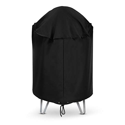 Arcedo Kettle Grill Cover, Heavy Duty Waterproof Round Charcoal Smoker Cover, Outdoor Vertical Barrel Cooker Smoker Cover, 30