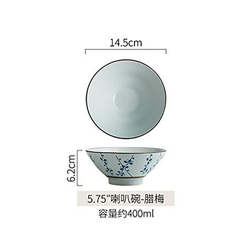 LLDKA Ciotola di Ceramica Creativa Giapponese tagliatelle Ciotola di Instant Noodles zuppiera Grande Ciotola Ristorante Studenti Ciotola casa,6