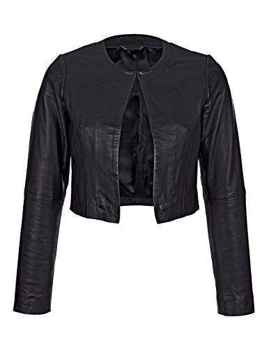 Amy Vermont Damen Lederjacke in Schwarz aus Lammnappa in kurzer Form