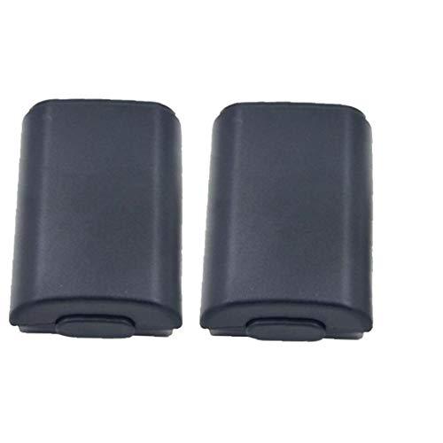 Mando inalámbrico portátil manija batería cubierta trasera caso de Shell Wireless Pack tapa de la batería cubierta de la caja Compatible con Xbox 360 2Ajuste Negro diversión del juego accesorios