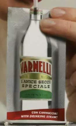 Bustina Tascabile -VARNELLI- con cannuccia 25 ml 46% da portare sempre con te (6 Bustine Monodose)