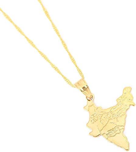 banbeitaotao Collar Color Dorado Mapa de la República de Senegal Collares Pendientes Joyería de Cadena de Mapa de Senegal de Moda