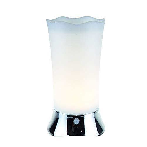 Tischlampe mit Bewegungssensor, 2 Stück/Set, schnurlose dekorative Tischlampe, batteriebetrieben, LED Schreibtisch-Nachtlicht für Badezimmer, Flur, Schlafzimmer, Essbar