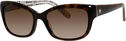 Johanna/S 0086 53MM Tortoise/Brown Gradient Rectangle Sunglassesfor Women + FREE Complimentary Eyewear Kit