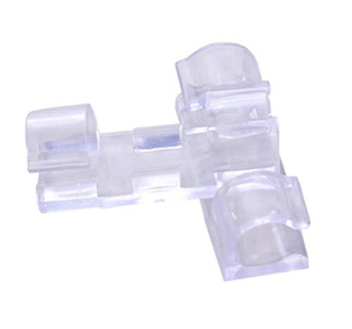 20x Demarkt Selbstklebend Kabelschellen Kabelhalter Kabel clips ABS 3x1x1cm Transparente Farbe