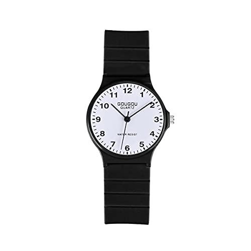 CXJC Reloj de Cuarzo del Estudiante del cinturón de Silicona. Reloj Femenino Digital de Todos los Partidos. Reloj de Deportes conscientes de la Escuela Primaria y de la Escuela Secundaria