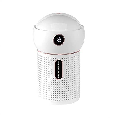 Humidificador de Niebla fría, Oficina en casa del Dormitorio de bebé, humidificador ultrasónico, Modo de Niebla de proyección, luz de Noche de Color, Duradera hasta 12 Horas,White,Standard