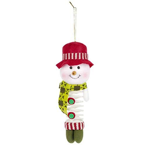 BESTOYARD enfeite de boneco de neve de Natal com pingente para pendurar na primavera, decoração de árvore de Natal para home office bar hotel
