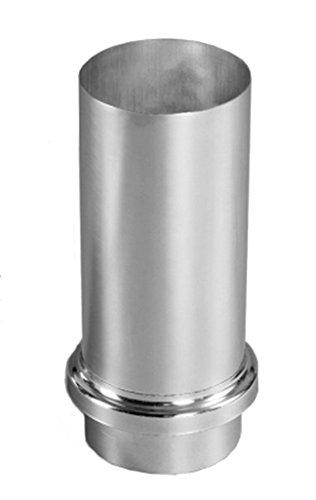 Schiebemuffe Titanzink mit Standrohrkappe in 76, 80, 87 und 100 mm (100 mm)