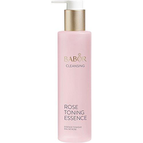 BABOR CLEANSING Rose Toning Essence, Erfrischendes Gesichtswasser für jede Haut, mit leichtem Rosenduft, beruhigt die Haut, alkoholfrei, 1 x 200ml