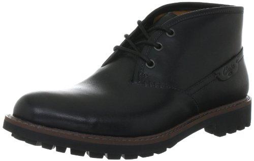 Clarks Herren Montacute Duke Kurzschaft Stiefel, Schwarz (Black Leather), 41 EU