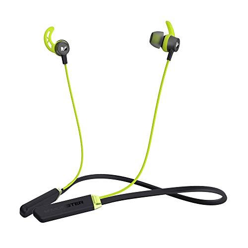Monster Bluetooth Kopfhörer iSport, In-Ear Sport kopfhörer mit Bluetooth 5.0, 10 Stunden Wiedergabezeit, HD Mikrofon, IPX5 Wasserschutzklasse, Magnetische Ohrhörer (Grün)