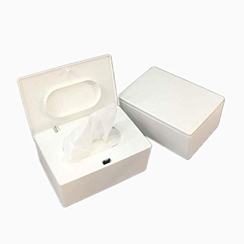Miwaimao Caja de pañuelos de escritorio de sello de toallitas de bebé dispensador de papel tapa de toallitas contenedor ecológico de concha cosmética toallitas de limpieza casos