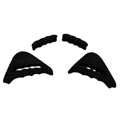 Fuyamp Zehenstecker, wiederverwendbar, Zehenfüller, verstellbar, Schuhfüller für zu große Schuhe für Damen und Herren, Unisex, Pumps und flache Turnschuhe (schwarz)