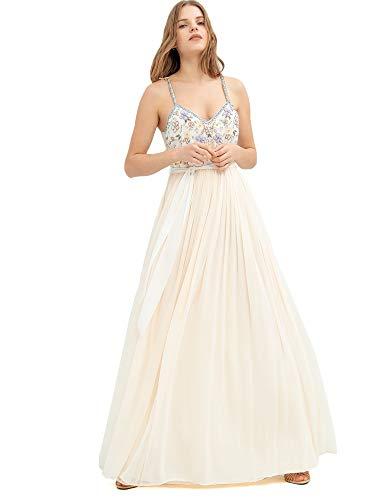 Fracomina Langes Kleid FR20SP639 Nude, Column, Beige L