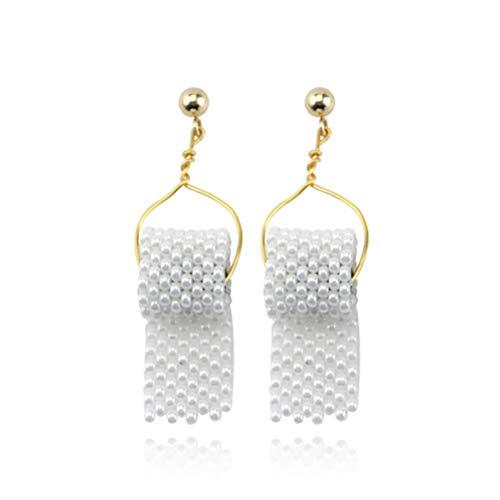 Mankoo 1 Paar Ohrringe, Toilettenpapierrolle Ohrringe Haken Ohr Draht Polymer Clay Handgefertigt, Für Mädchen Frauen Geschenk