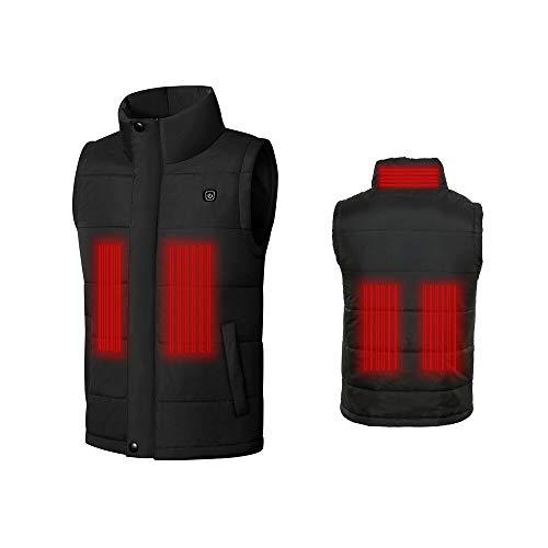 BearHoHo - Gilet riscaldato elettrico per uomo e donna, taglia S-XXXXL, con ricarica USB, per il controllo della temperatura, per il lavoro all'aperto (XXXL)