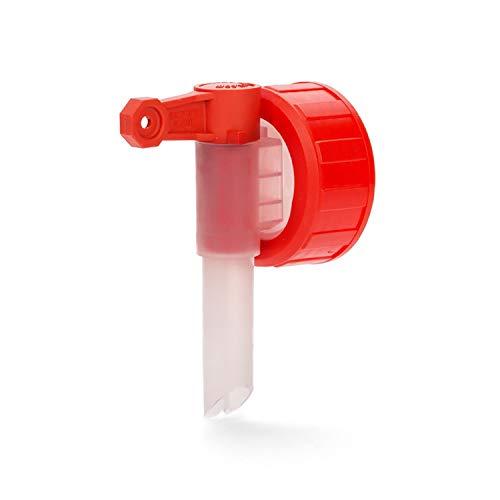 PFERDEPFLEGE24 - Kanister Dosierhahn DIN45 - Auslaufhahn Kanister / Kanister Hahn für Kanister in 3l, 5l & 10l mit 44mm Gewinde - Kanister Zapfhahn als praktische Dosierhilfe - Weiß-Rot