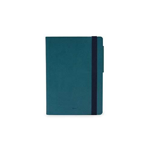 Legami - Agenda Giornaliera, 12 Mesi, 2021, Small, PETROL BLUE - 9.5 x 13.5 cm