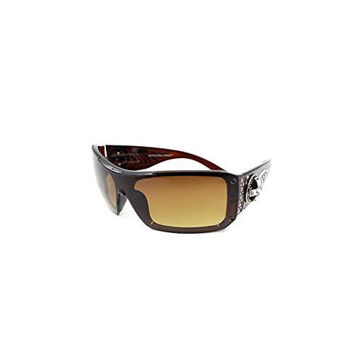 Montana West Womens Sunglasses Crossed Pistol Concho UV 400 Cowgirl Bling Rhinestone