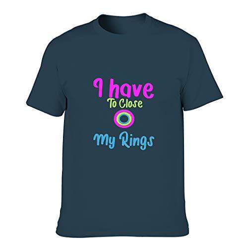 Camiseta de algodón para hombre con texto en inglés 'I'm Only Here to Close My rings'