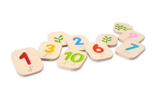 PLAN TOYS- Números en braile del 1al 10 Plantoys (5654)