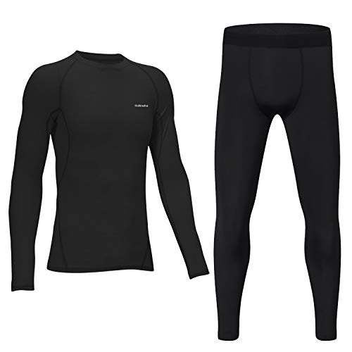 Junyue Boys 2 Pcs Compression Pants Thermal Base Layer Soccer Tights Athletic Leggings