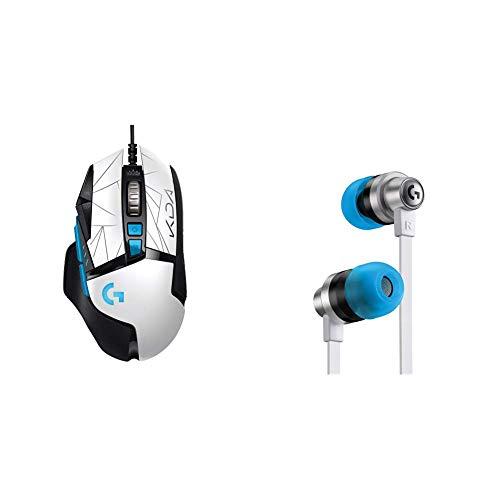 Logitech G502 HERO K/DA Mouse Gaming Cablato Prestazioni Sensore HERO 25K + G333 K/DA Cuffie Auricolari da Gaming, Microfono e Controlli in Linea