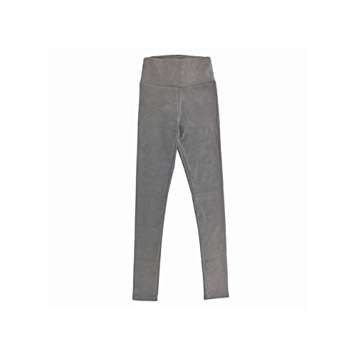 Lionel Philip Herbst Wildleder Frauen Hosen hohe Taille große elastische schlanke Retro Leder Wildlederhose für Frauen hellgrau L