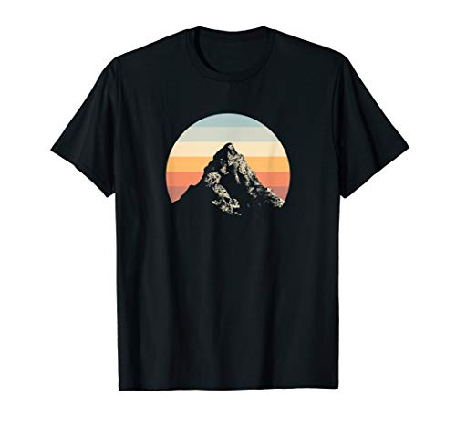 Mountain Sunset Circle Rainbow Outdoors Nature Hiking Fan T-Shirt