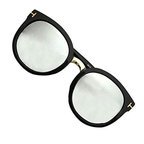 SOIMISS 1 par de Gafas de Sol Polarizadas Gafas de Sol Retro Clásicas Unisex Gafas de Sol de Bloqueo UV de Conducción Gafas de Fiesta de Moda para Hombres Y Mujeres Plata