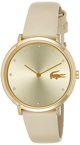 Lacoste Unisex Analog Quarz Uhr mit Leder Armband 2001030