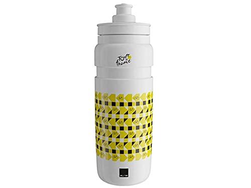 ELITE Blanco, Bidón Fly Tour de Francia, 750 ml, Adultos Unisex, 750