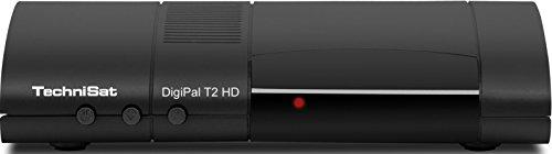 TechniSat Digipal T2 HD DVB-T2 Receiver (mit kartenlosem Irdeto-Zugangssystem für freenet TV, 12 Volt) schwarz