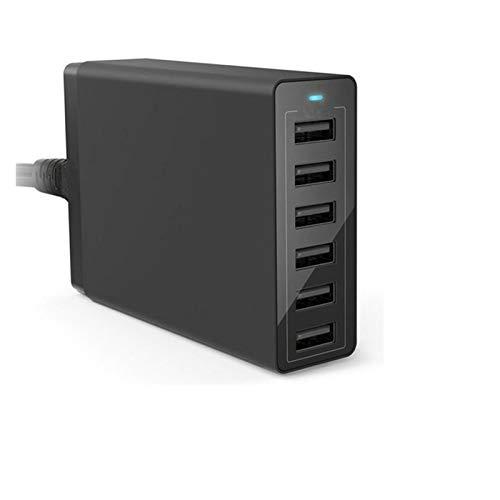 YGGFA 50W Multi USB Cargador Estación de Carga rápida 10 Puertos Cargador 5V10A Estación de Cargador de Puerto múltiple Quick para teléfonos UE UE UK UK Plug