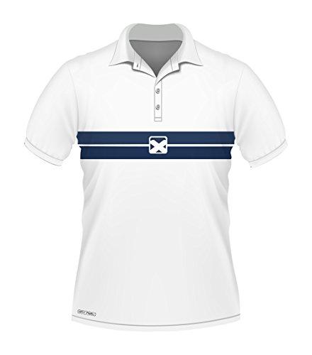 Pacific Team Pro Polo - Polo, Color Blanco, tamaño XX-Large