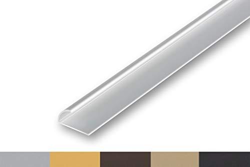 (4,22€/m) Teppich-Kantenschutz Profil Einklemmprofil   Abschlussprofil   Klemmprofil   selbstklebend (900 mm (selbstklebend), silber)