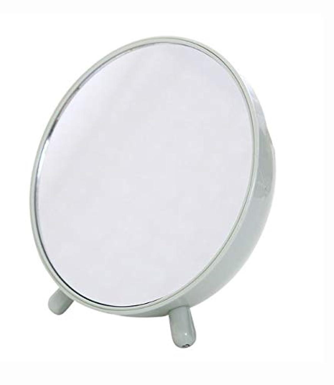 許さない空中覚えている化粧鏡、収納箱の化粧品のギフトが付いている緑の簡単な円形のテーブルの化粧鏡
