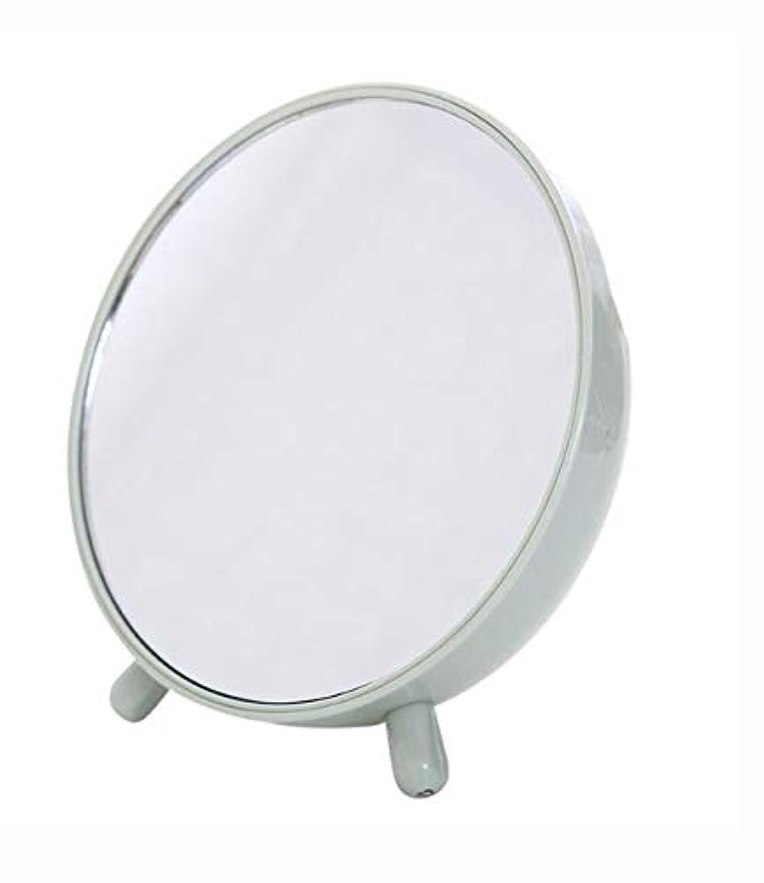 慣習海いま化粧鏡、収納箱の化粧品のギフトが付いている緑の簡単な円形のテーブルの化粧鏡