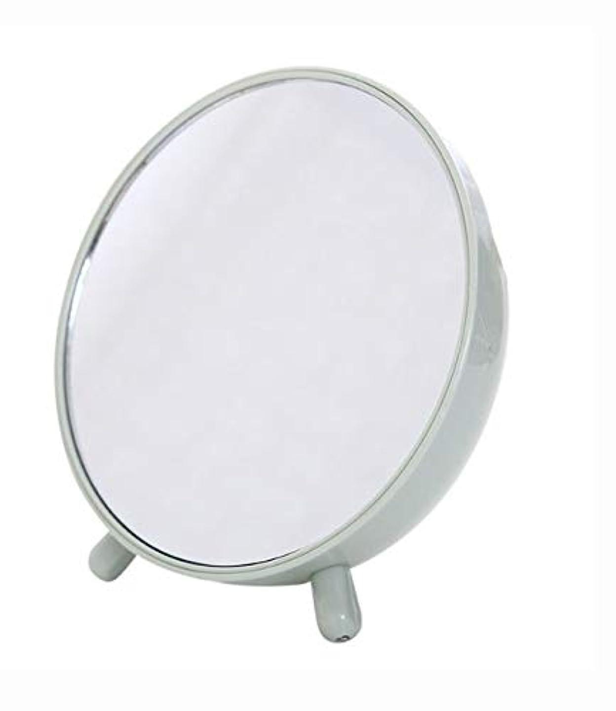 私達膨らみ分配しますShiMin 化粧鏡、収納箱の化粧品のギフトが付いている緑の簡単な円形のテーブルの化粧鏡