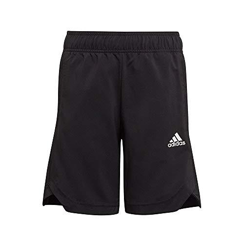 adidas B A.r. Wo 3s Sh - Pantaloncini da Bambino, Bambino, Pantaloni Corti, GM8488, Nero/Bianco, 12 Anni