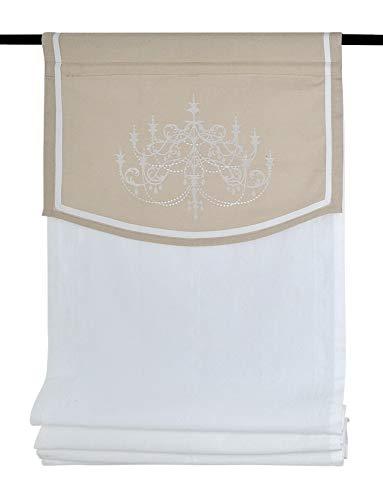 Kutti Tendine Passanti Versailles Tenda a Pacchetto Blanco Crema 60 x 140 cm