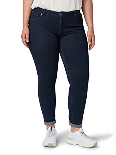 TOM TAILOR MY TRUE ME Damen Basic Skinny Jeans, Blau (Dark Dye Blue Denim 10133), 50