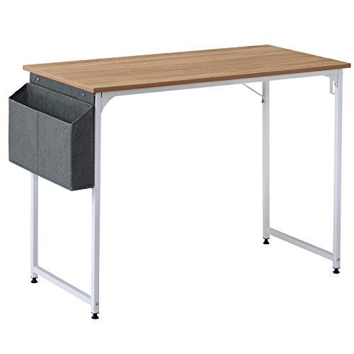 belupai Mesa de escritorio para estudiantes, mesa de estudio, escritorio para ordenador portátil, para espacios pequeños, hogar, oficina, estación de trabajo